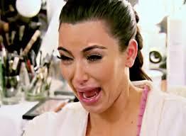 Crying Kim Kardashian