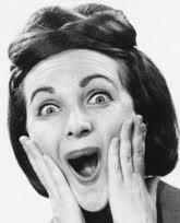 excited vintage woman