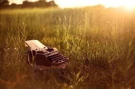 typewriter outdoors